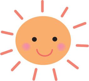 日光を浴びる