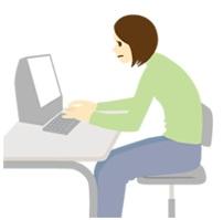 パソコン姿勢