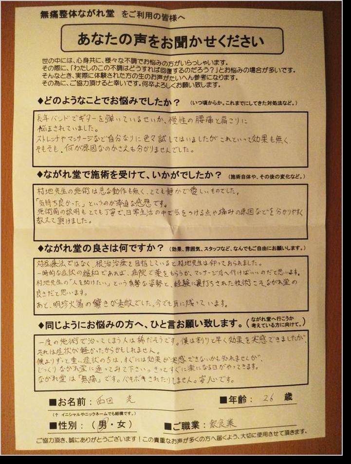 西田光さん・ご感想